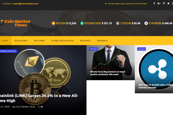 Coin Market Times – Cryptocurrencies and Digital Assets